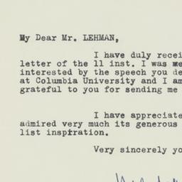 Letter : 1947 April 26