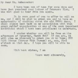 Letter : 1958 February 27