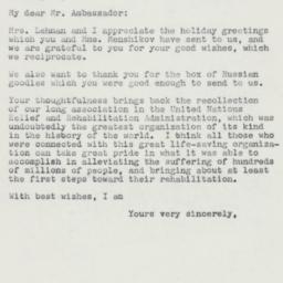 Letter : 1958 December 29