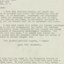 Letter: 1947 November 29
