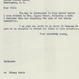 Letter : 1954 August 14
