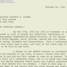 Letter : 1941 October 25