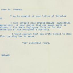 Letter : 1941 November 19