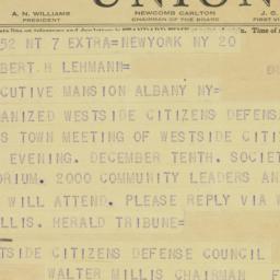 Telegram : 1941 November 21