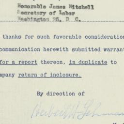 Memorandum : 1953 December 16