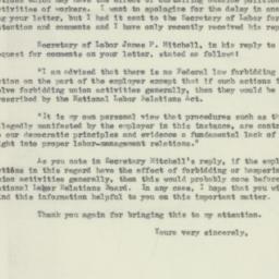 Letter : 1954 February 16