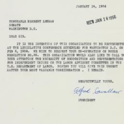 Letter : 1956 January 14