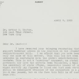 Letter : 1935 April 9