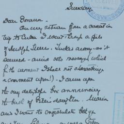 Letter : 1940 May 9
