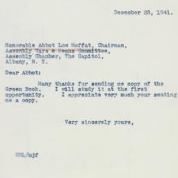 Letter : 1941 December 23