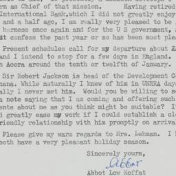 Letter : 1957 December 10