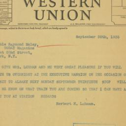 Telegram : 1935 September 25