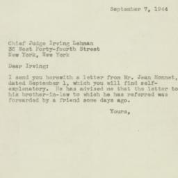 Letter : 1944 September 7