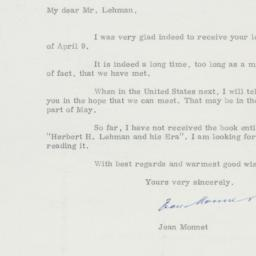 Letter: 1963 April 19
