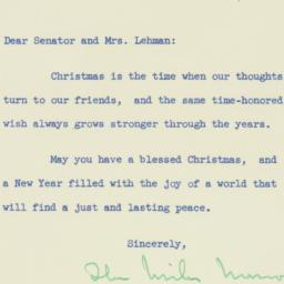 Letter : 1953 December 25