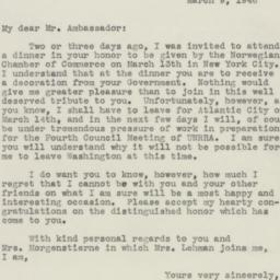 Letter : 1946 March 9