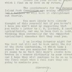 Letter : 1932 September 8