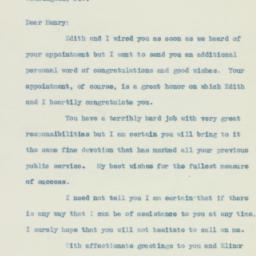 Letter : 1933 November 18