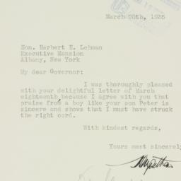 Letter : 1935 March 20