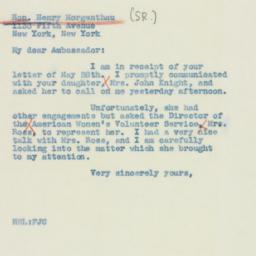 Letter : 1941 June 7