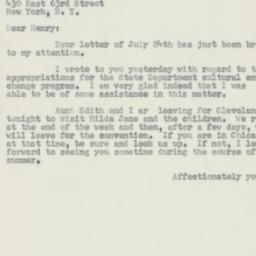Letter : 1956 August 1