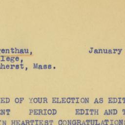 Telegram : 1940 January 23