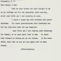 Letter : 1959 April 1