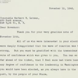 Letter : 1946 November 15