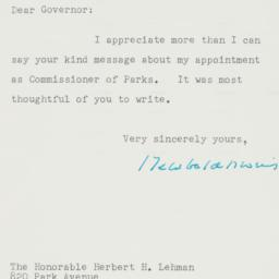 Letter : 1960 May 2