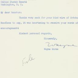 Letter : 1952 October 21