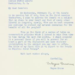 Letter : 1953 February 9