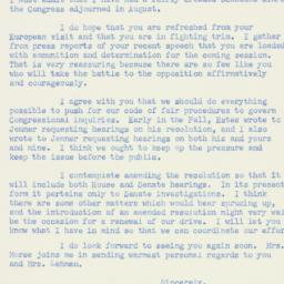 Letter : 1953 December 28