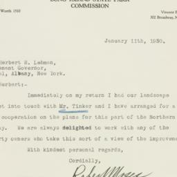 Letter : 1930 January 11