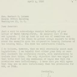 Letter : 1950 April 4