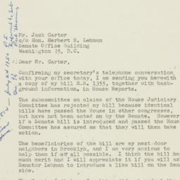 Letter : 1954 April 29