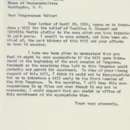 Letter : 1954 May 6