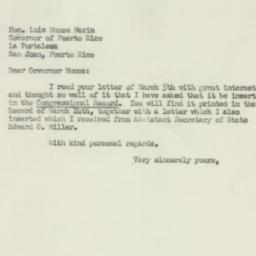 Letter : 1952 March 24
