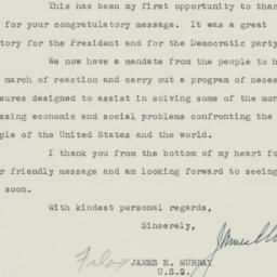 Letter : 1948 November 23