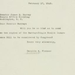 Letter : 1949 February 17