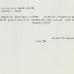 Telegram : 1958 September 9