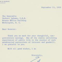 Letter : 1958 September 15