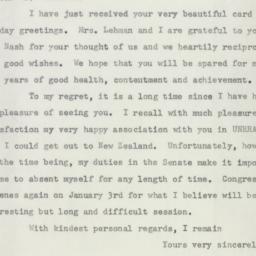 Letter : 1955 December 22