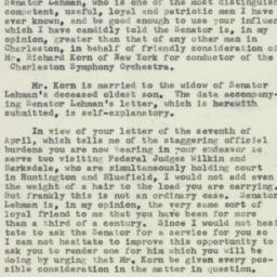Letter: 1954 April 10
