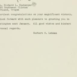 Telegram: 1954 November 4