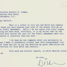 Letter: 1956 May 5