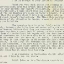 Letter: 1956 October 20