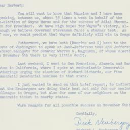 Letter: 1956 October 26