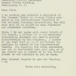 Letter: 1957 January 10