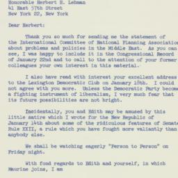 Letter: 1957 January 23