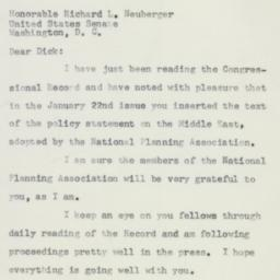 Letter: 1957 January 25